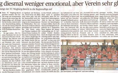 Aufstieg FC Wegberg-Beeck